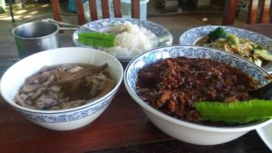 Thai country food Kanchanaburi